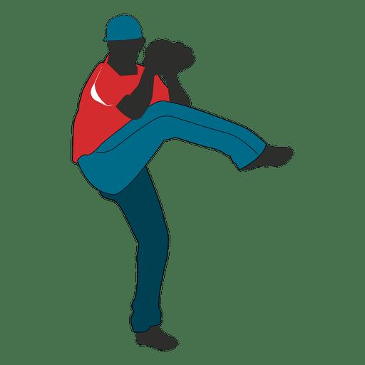 Dibujos animados de jugador de béisbol