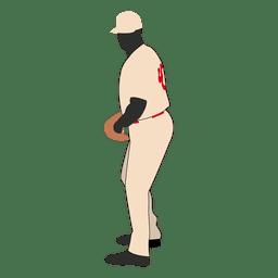 Baseball bowler silhouette 2