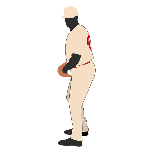 Jugador de beisbol de pie Transparent PNG