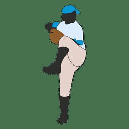 Baseball bowling silhouette