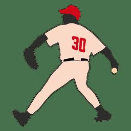 Baseball bowling silhouette 1