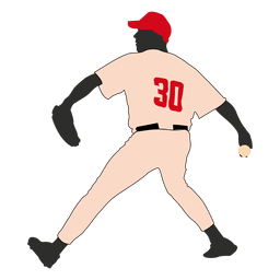 Baseball player playing a game