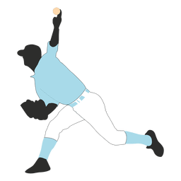 Baseball player silhouette throwing
