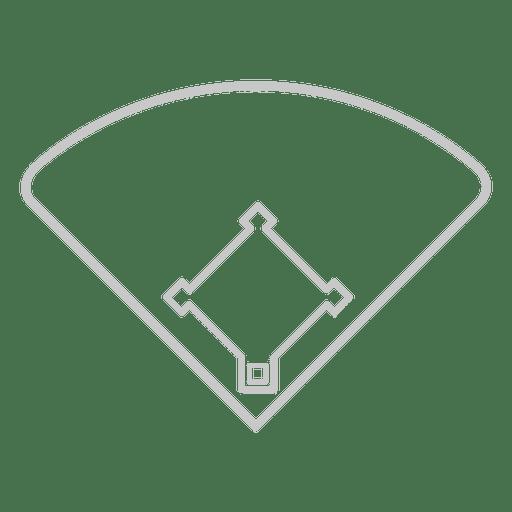 Icono de la cancha de beisbol Transparent PNG