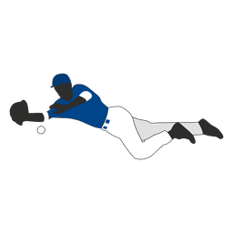 Silueta de jardinero de béisbol