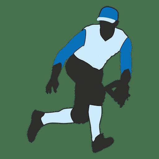 Silueta De Jardinero De Béisbol 2 Descargar Pngsvg Transparente
