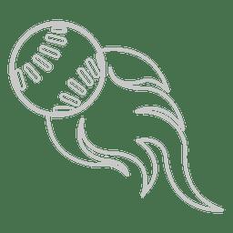 Icono de llama de beisbol