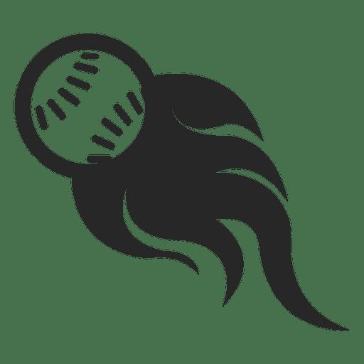 Baseball flame logo