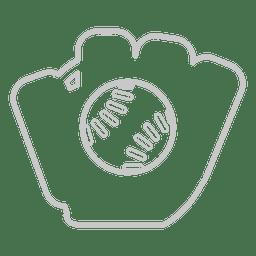 ícone luva de beisebol