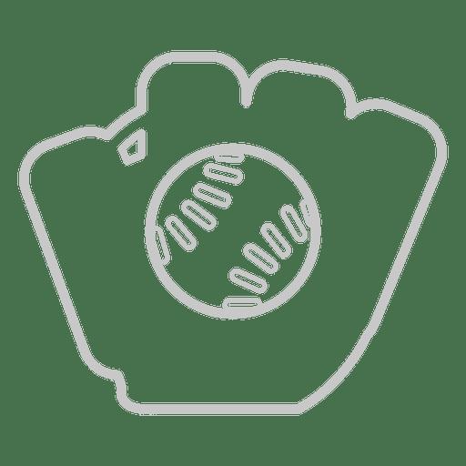 Baseball glove icon Transparent PNG