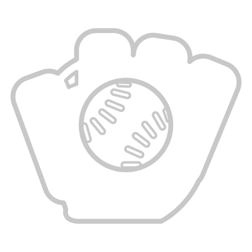 Icono de guante de beisbol Transparent PNG