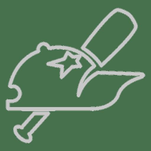 Baseball hat bat icon Transparent PNG