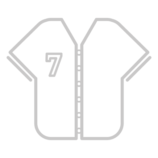 Baseball jersey icon Transparent PNG