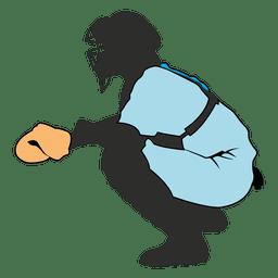 Baseball keeper silhouette