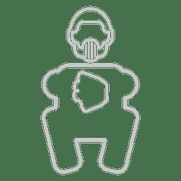 Icono de uniforme de guardián de béisbol