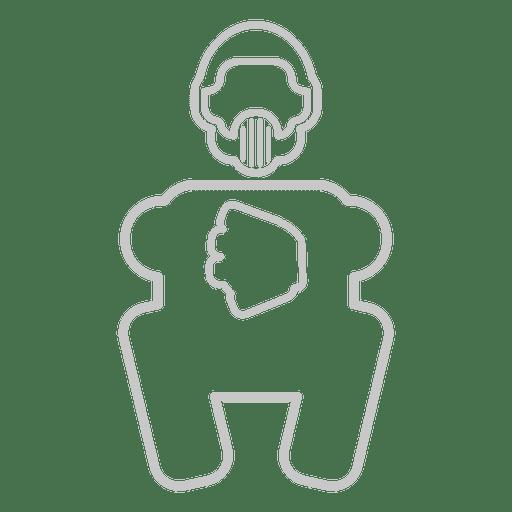 Baseball keeper uniform icon Transparent PNG