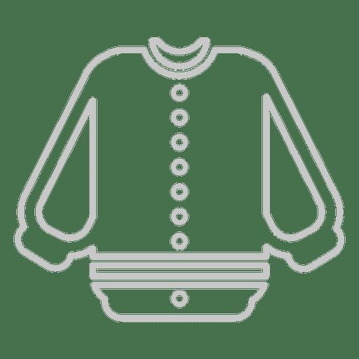 Baseball outline jersey Transparent PNG