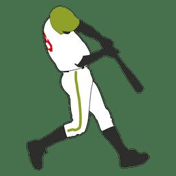 Jogador de beisebol rebatidas