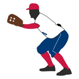 O jogador de beisebol silhueta captura
