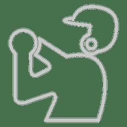 Icono de jugador de beisbol