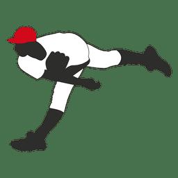 Baseball player throwing silhouette