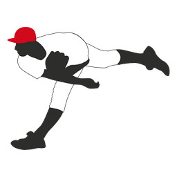 Jugador de béisbol lanzador lanzador