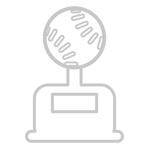 Baseball trophy icon Transparent PNG