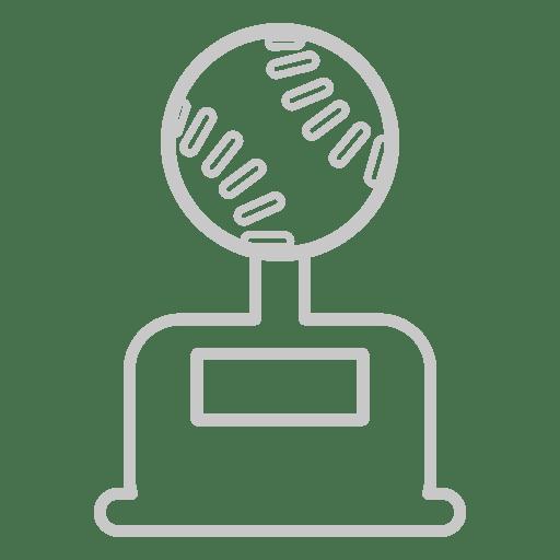 Icono de trofeo de beisbol Transparent PNG