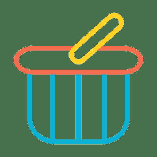 Icono de carro de la tienda de cesta