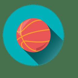 Ícone de círculo de basquete