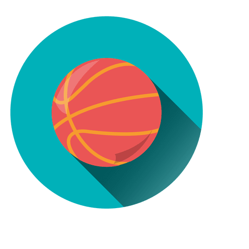 Basketball circle icon