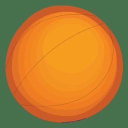 Baloncesto brillante del icono