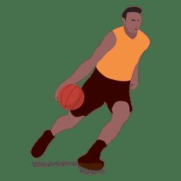 El jugador de baloncesto de dibujos animados