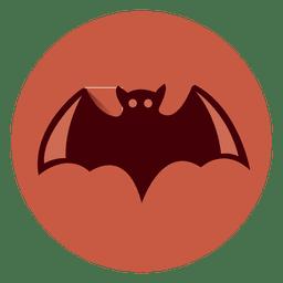 Icono de círculo de murciélago