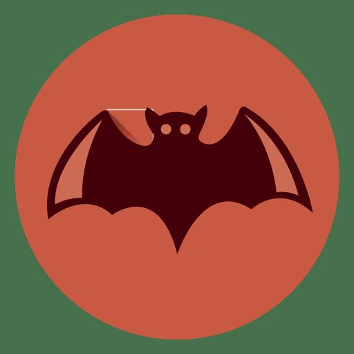 Ícone de círculo de morcego