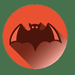 Morcego, redondo, ícone