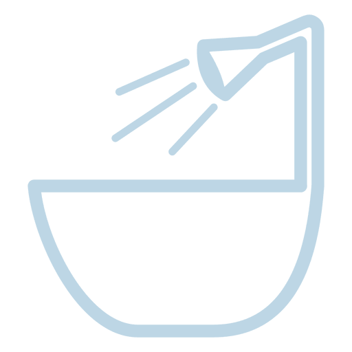 Bath tub line icon Transparent PNG
