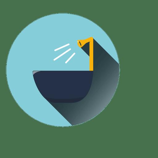 Bath tub round icon Transparent PNG