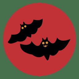 Bats circle icon