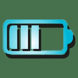 Ícone de bateria de gradiente