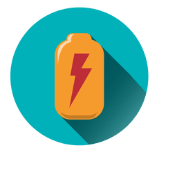 Battery round icon