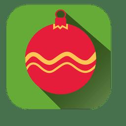 Adorno navideño de icono cuadrado