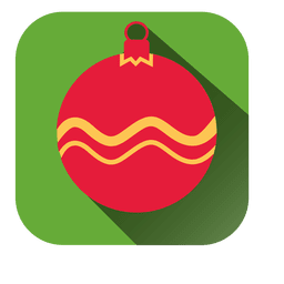 Weihnachtsverzierung quadratische Ikone