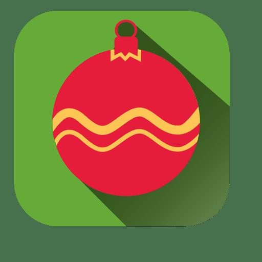 Adorno navideño de icono cuadrado Transparent PNG