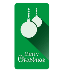 Baubles christmas label