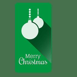 Etiqueta navideña de adornos