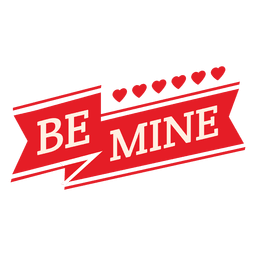 Be mine valentine ribbon
