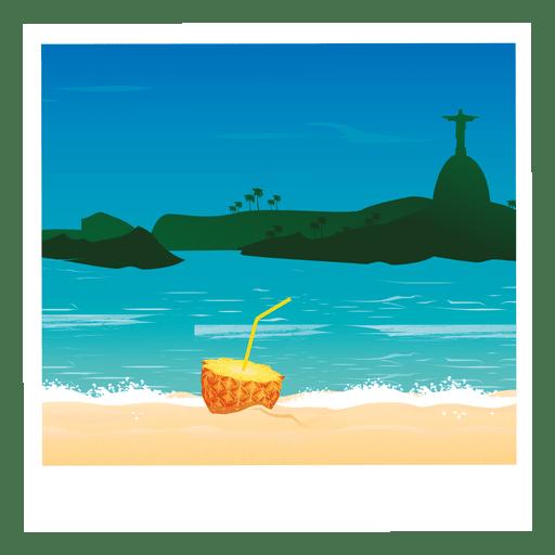 Beach cocktail image cartoon