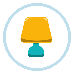 Bedroom lamp icon