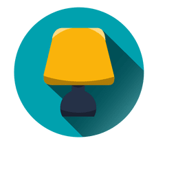 Bedroom lamp round icon